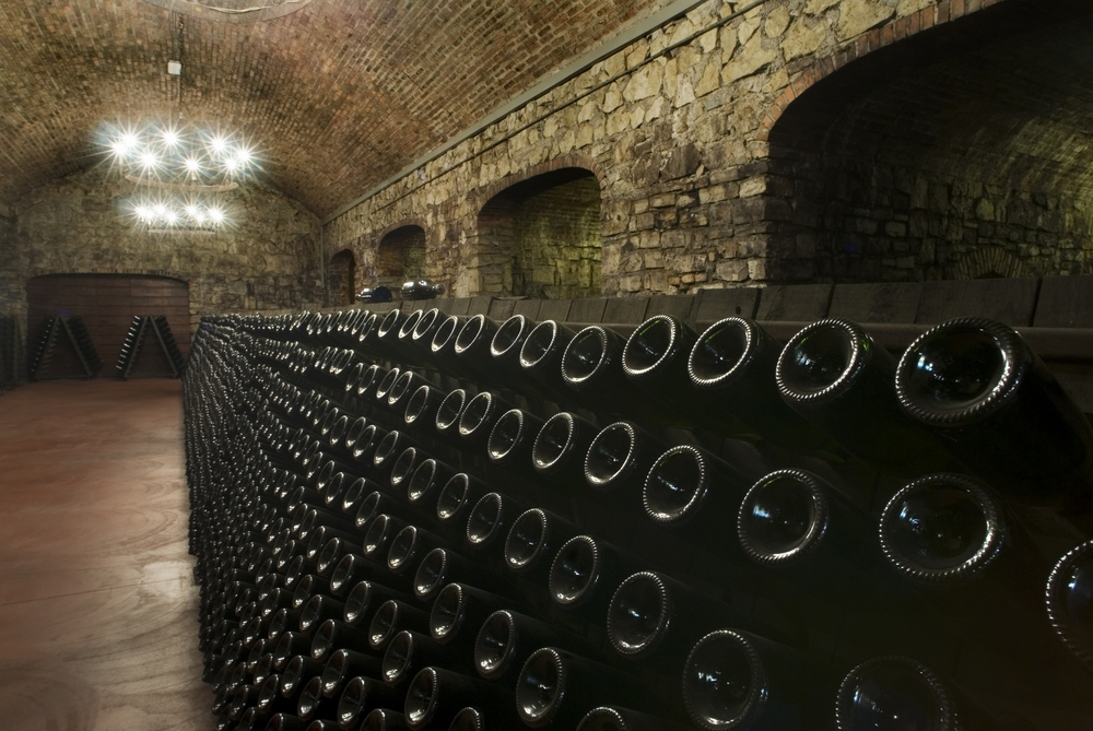 Pupitres in the underground cellarCredit Berlucchi Winery.jpg