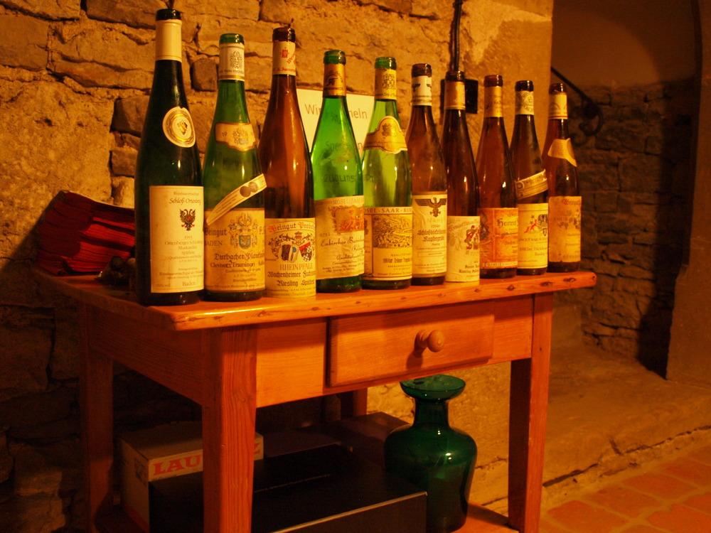 Castle Sommerhausen Tasting - Lineup of Rare Wines