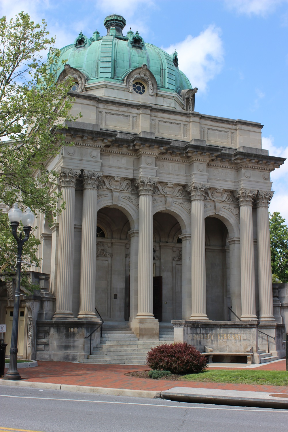 "The Beaux-Arts architectural style of the library is one of many interesting buildings in the ""Old Town"" district."