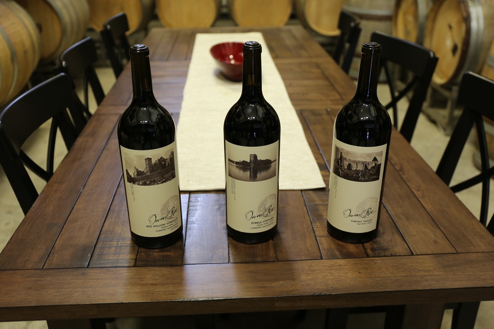 Owen Roe wines in the Oregon winery cellar and private tasting room, featuring their three core vineyards--Red Willow, Union Gap, and DuBrul 2.jpg