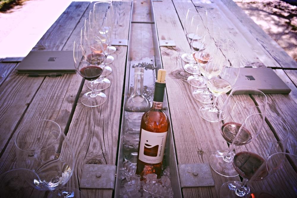 Wine Tourist - California Rose - Tasting Plein Air at Medlock Ames - Photo credit Leslie Rosa
