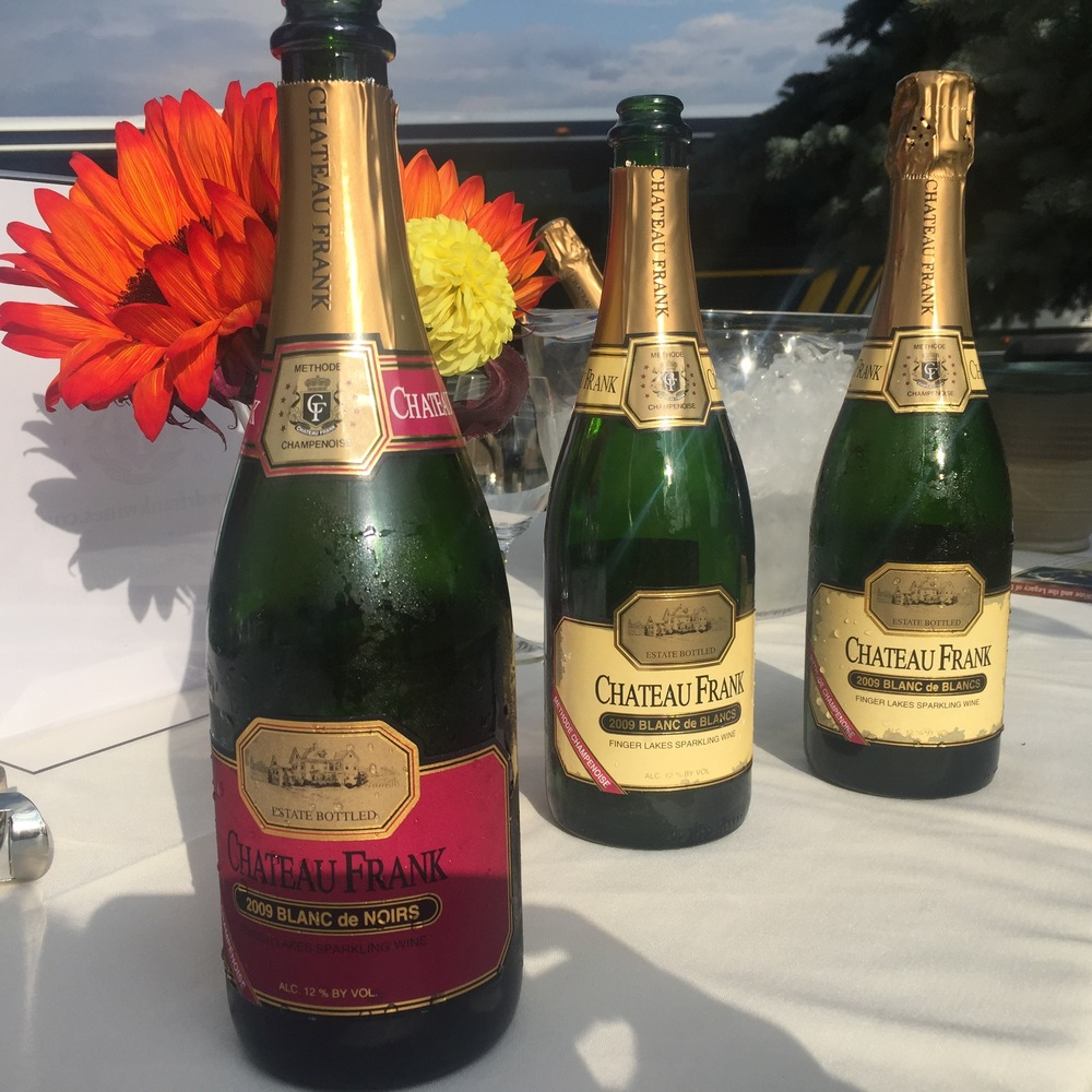 Sparkling Wine from Chateau Frank. Photo credit Gabriel Manzo