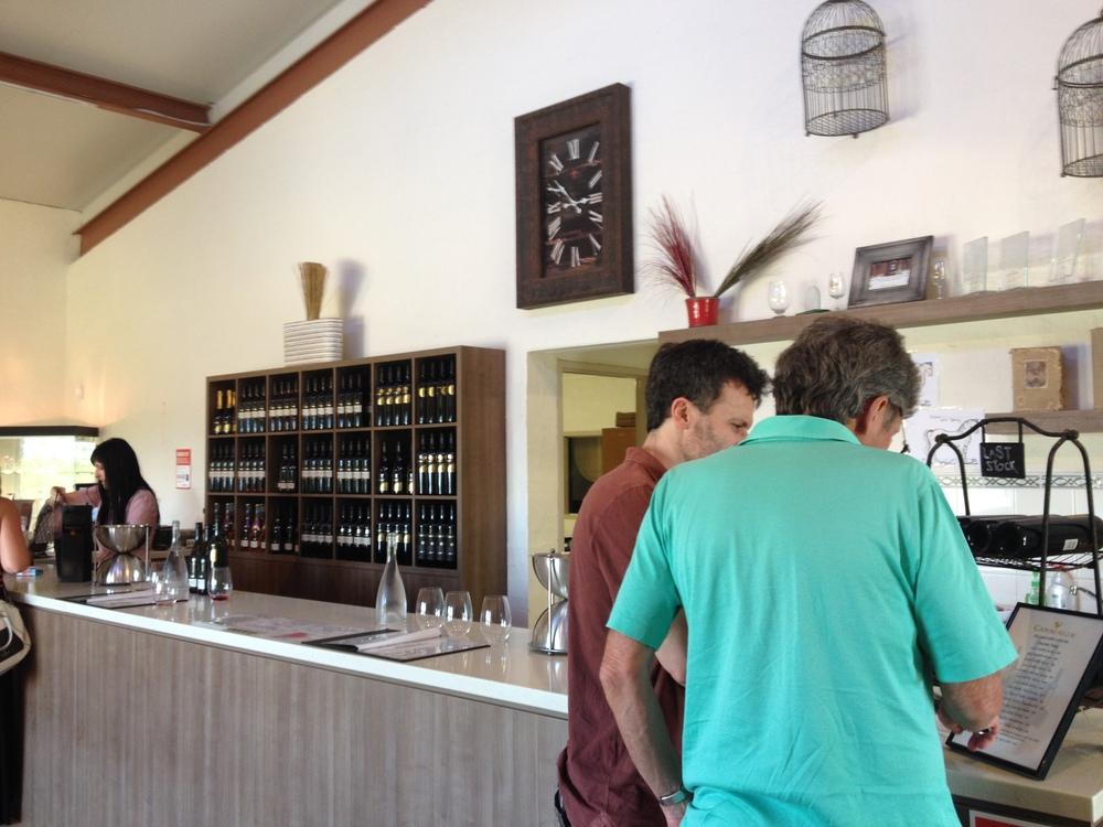 Capercaillie Wines' tasting room.JPG