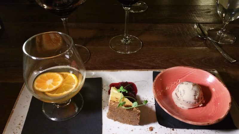 Dessert Trio at Cello Ristorante Bar