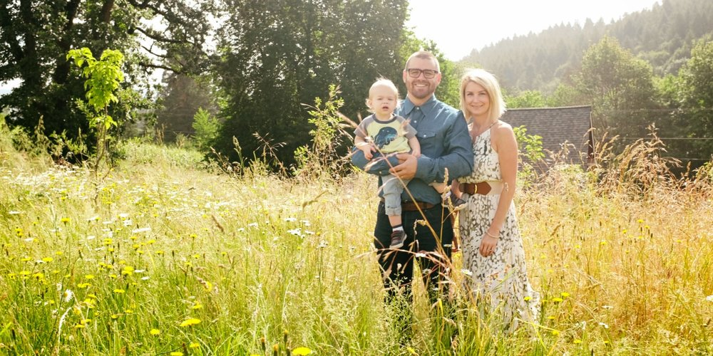 Cody Wright of Purple Hands with his family | Photo Credit: Purple Hands Winery