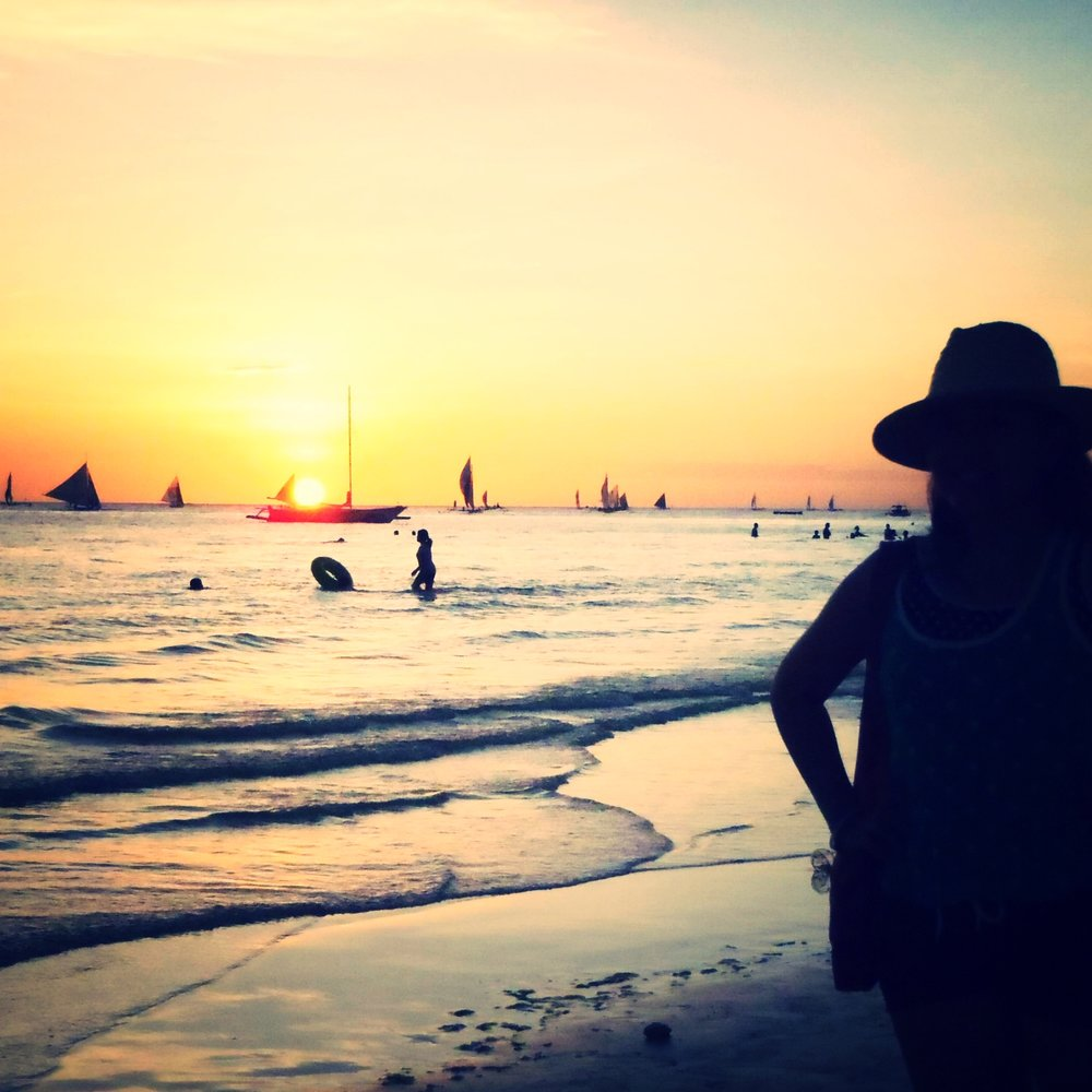 My best sunset view in Boracay Island, Philippines.