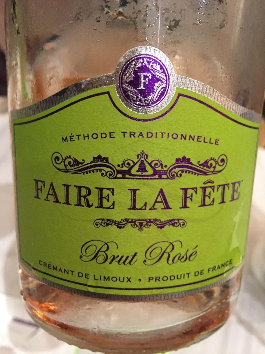 Faire La Fete Brut Rose, Cremant De Limoux, France.jpg
