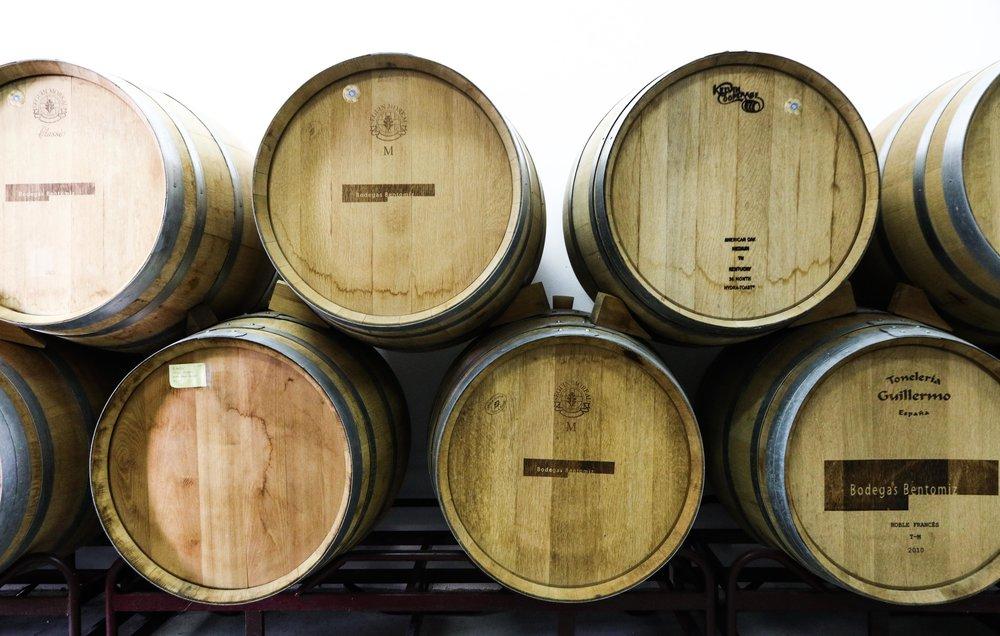 Bentomiz wine barrels