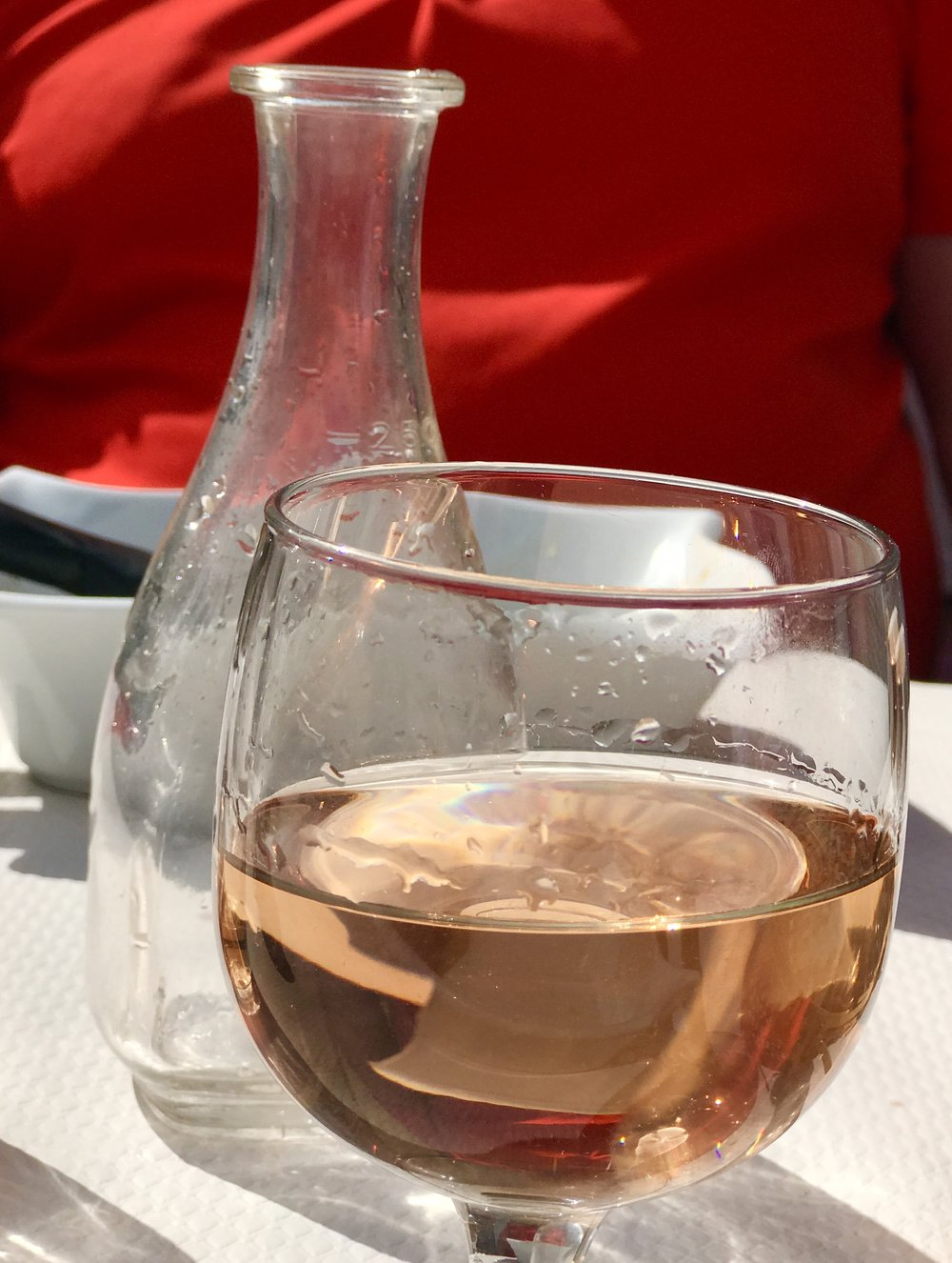 Rosé for lunch.  We had bread too!