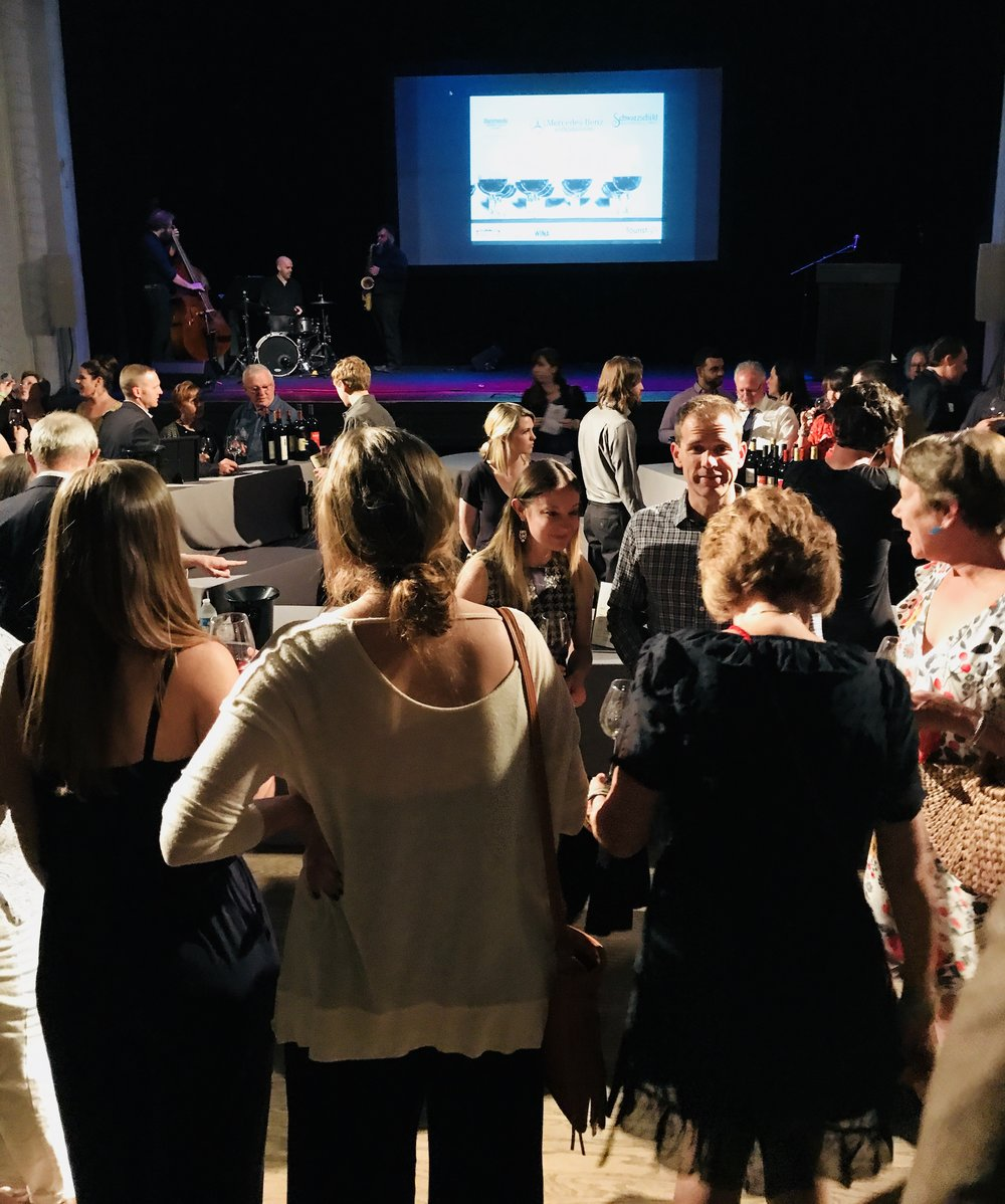 The Jefferson Theater in Charlottesville Virginia was packed with #WineTourists enjoying the hors d'oeuvres by The Local paired with Central Virginia wines.