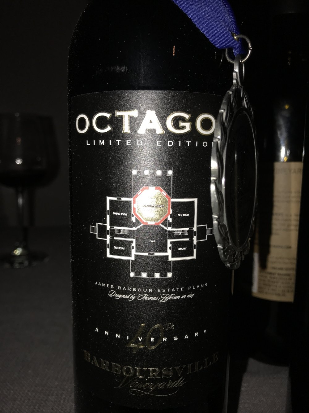 - Octagon 40th anniversary limited edition was present (Barboursville Vineyards)