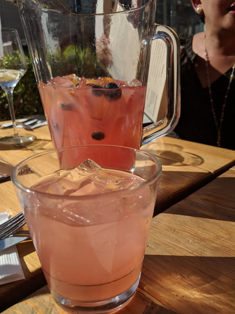 We met friends for some rooftop happy hour! First on the agenda--   rosé sangria!  @Haven Rooftop