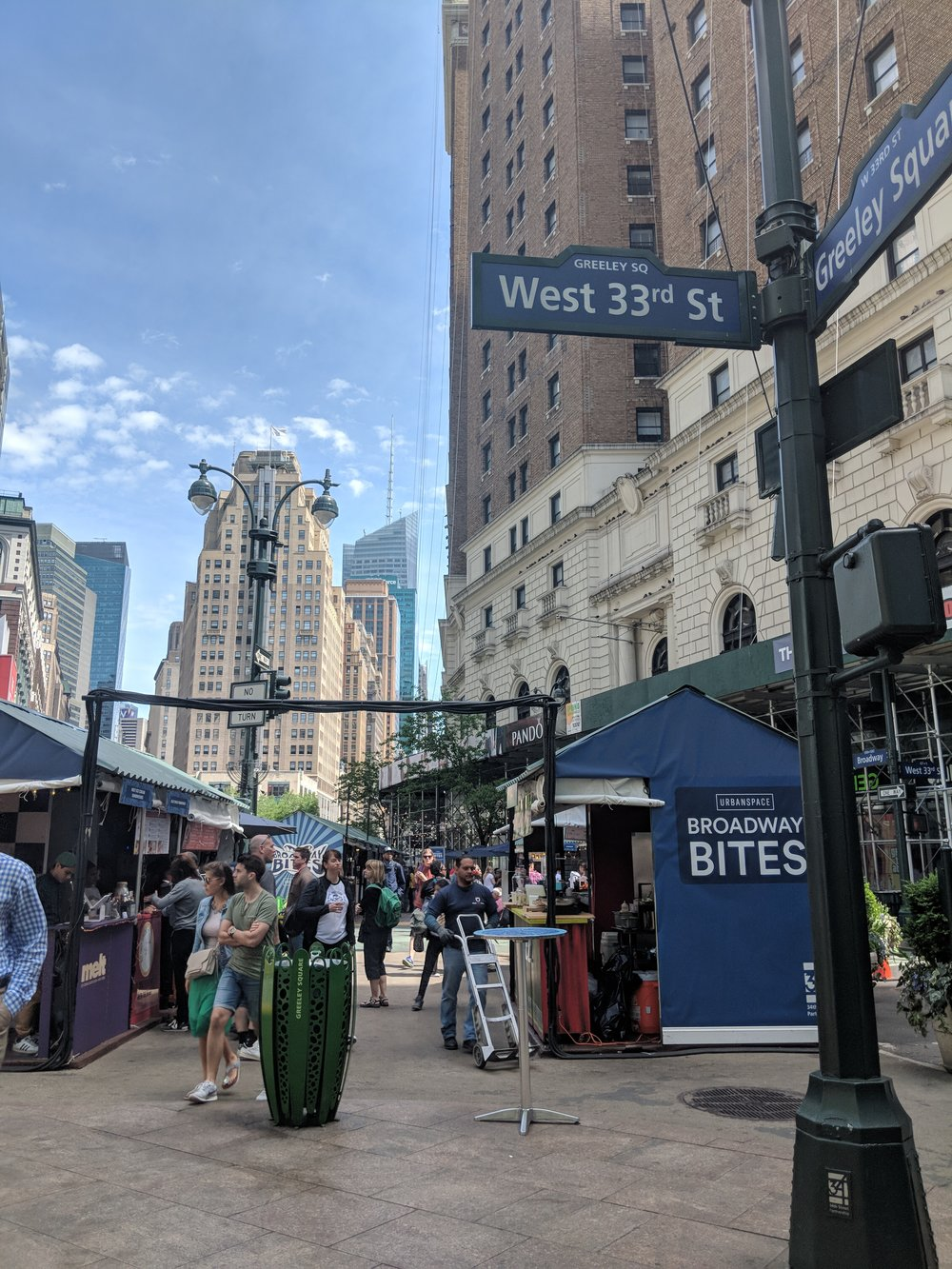 After parking the car, we walked for blocks, just exploring the city.  We stumbled upon Broadway Bites just in time for lunch.