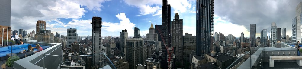 New York City (view from our rooftop hotel - ARLO NOMAD)