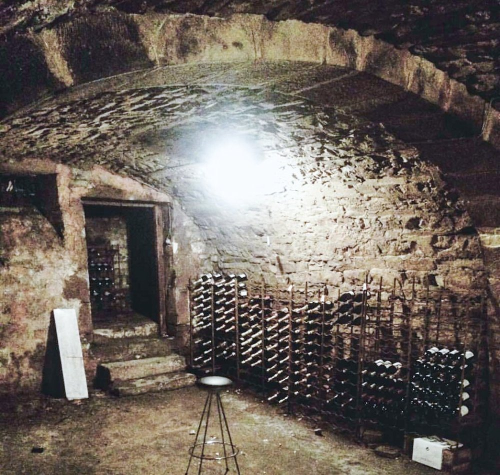 The wine cellar in their 300-year-old house was another source of inspiration.