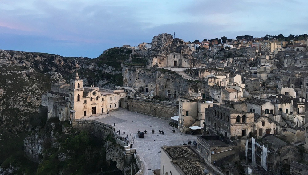 A view of Matera from the Hotel Sant' Angelo.