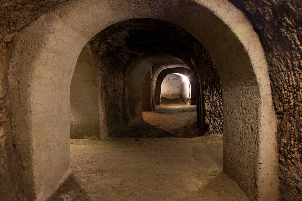 Inside the Znojmo catacombs.