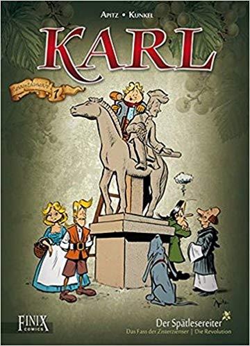 "A ""Karl, der Spätlesereiter"" cover illustration"