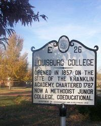 Photo of a Louisburg College Sign