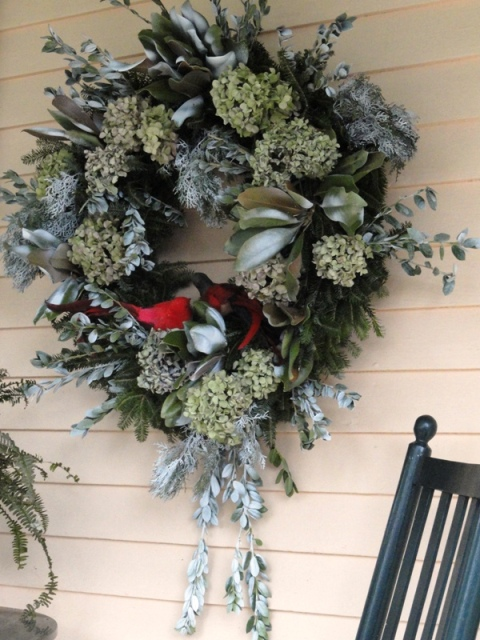 Photo of holiday wreath