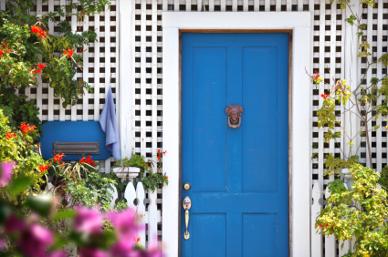 Photo of a blue door