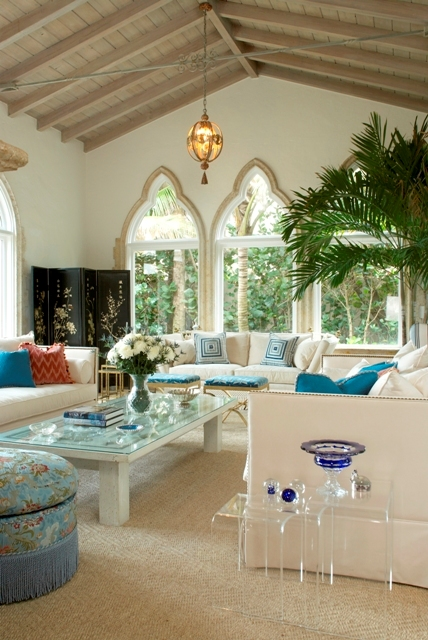 Living room designed by Sherrill Canet