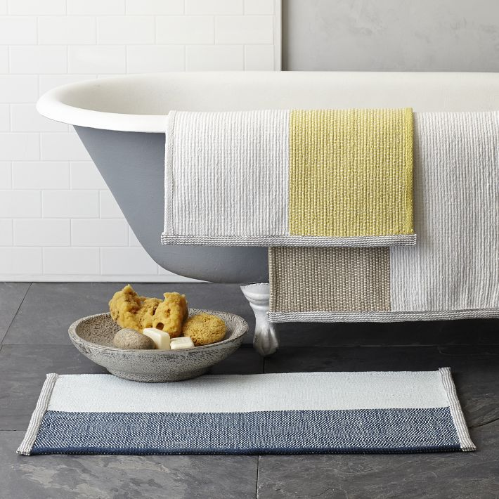 West Elm's plush cotton bath mat.