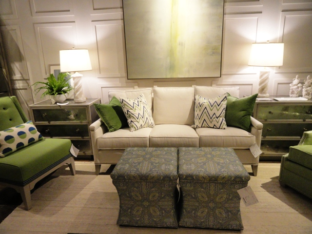 Pretty and popular apple green accents with neutral tones. Photo: Wrenda Goodwyn.