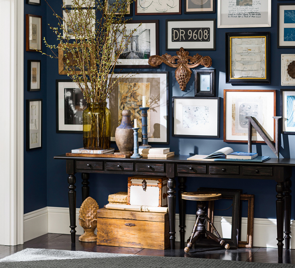 Design a gallery wall for your entry. Photo: Pottery Barn.
