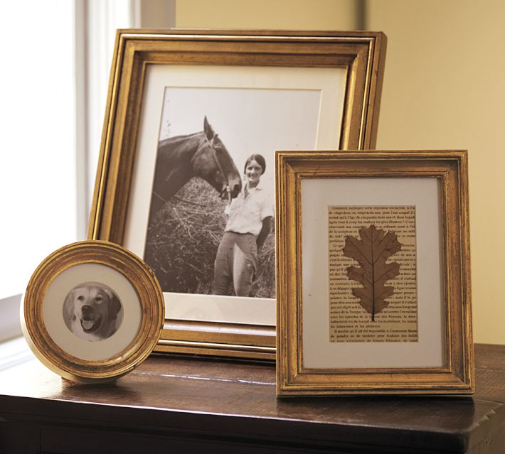 Pottery Barn gilt finish frames. Photo: Pottery Barn.