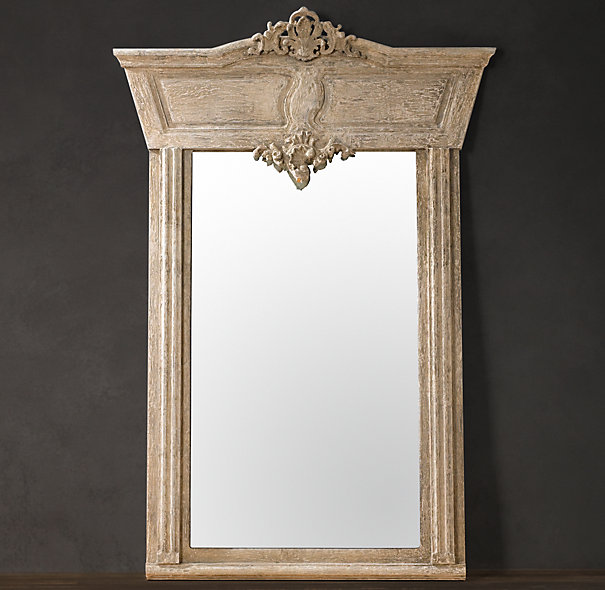 Make a statement with this Manor House Whitewashed mirror from Restoration Hardware. Photo: Restoration Hardware.