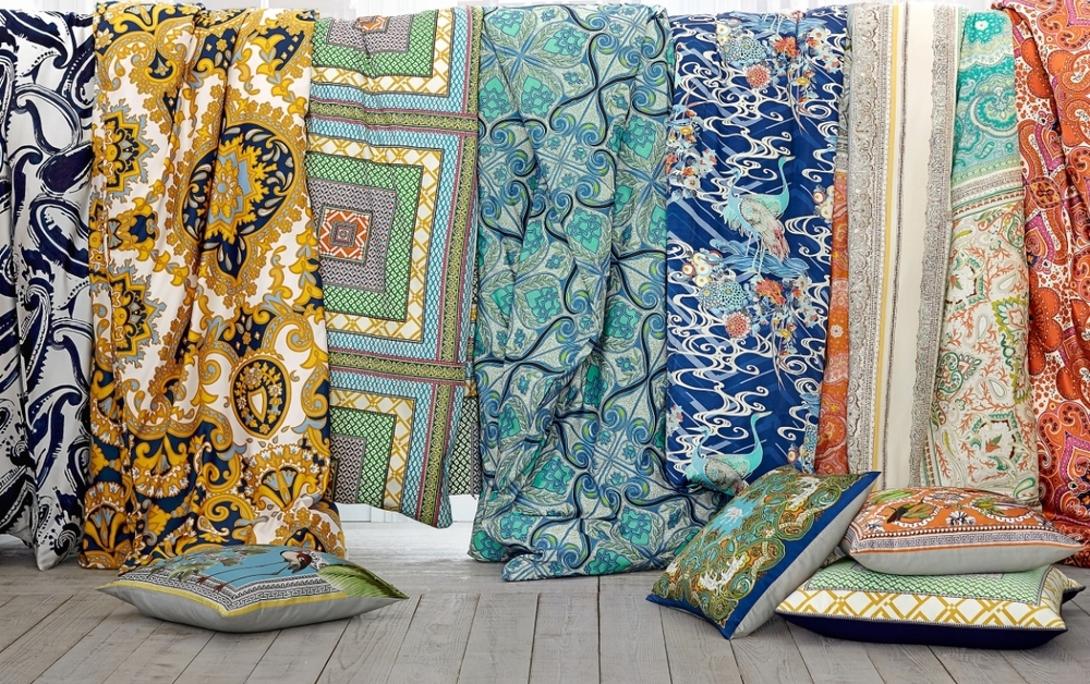 Pick a new color palette! Bold and beautiful patterns have been used to create bedding, pillows and more from Pottery Barn for this first collection of it's kind. Photo: Pottery Barn.