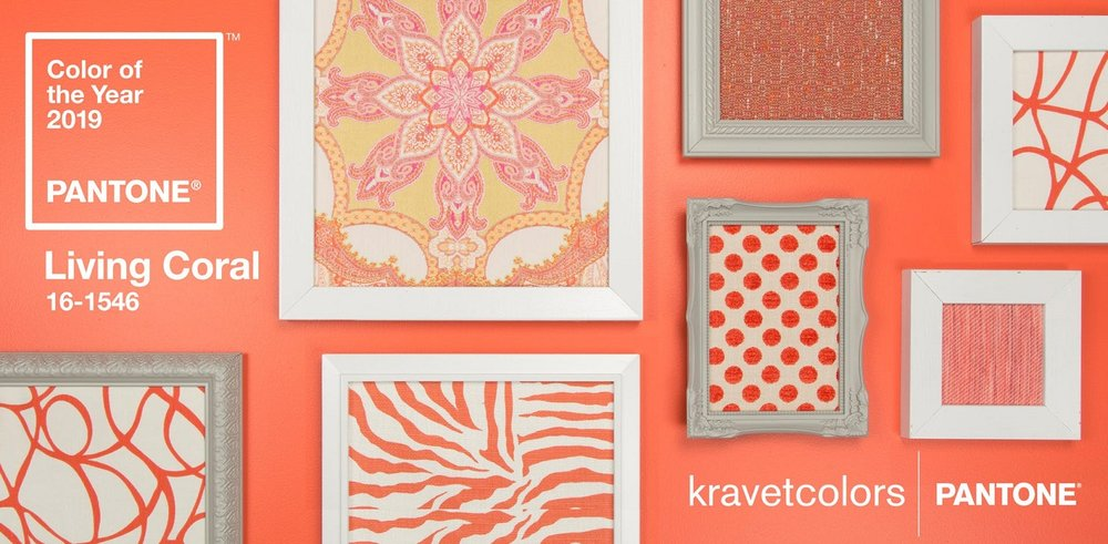 Kravet celebrates Living Coral by showcasing an inspiring line of fabrics at www.Kravet.com. Curated furnishings and accessories in the color are available at www.curatedkravet.com/us/ and offer lots of great ideas for working the color into an existing palette. Photo: Kravet.
