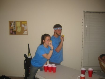 Blue Barracudas dominating beer pong circa 2004