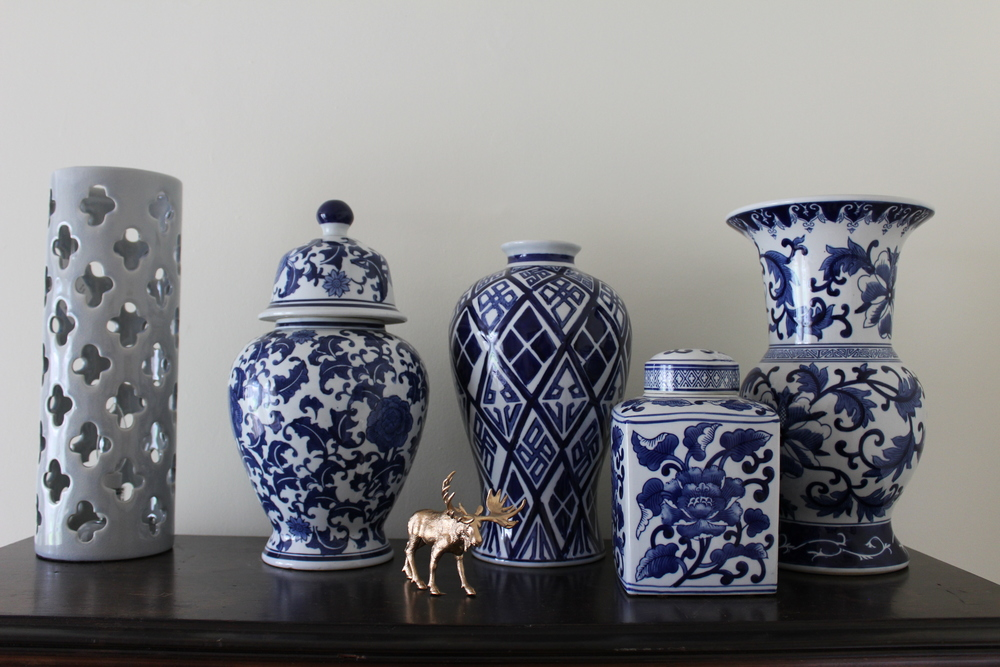 You can never have enough blue and white chinoiserie.