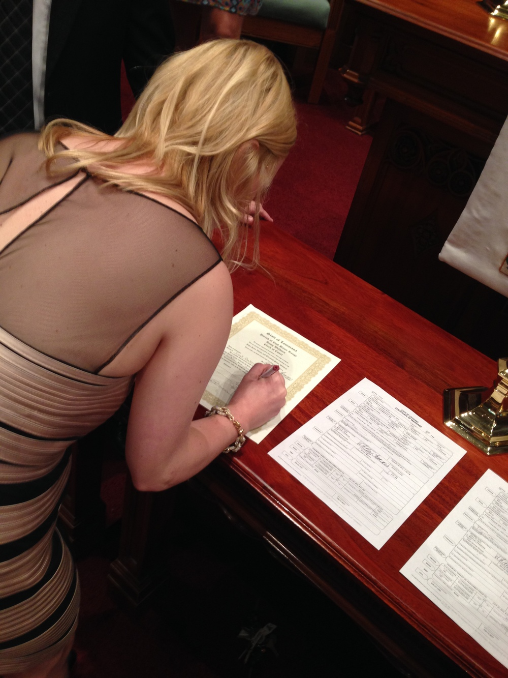 Signing my life away. I kid. I kid.