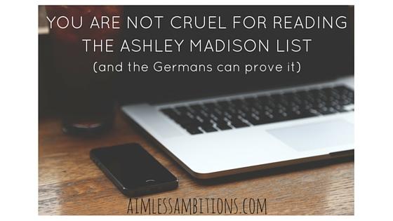 Don't Be Cruel: Ashley Madison List