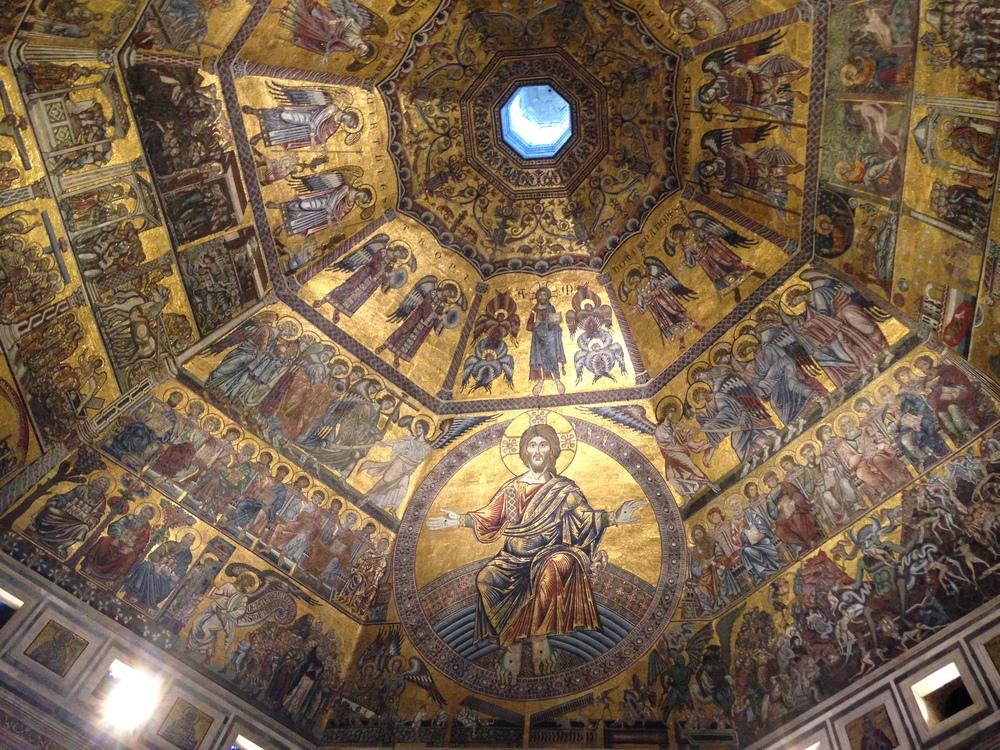 Inside the Baptistery of San Giovanni