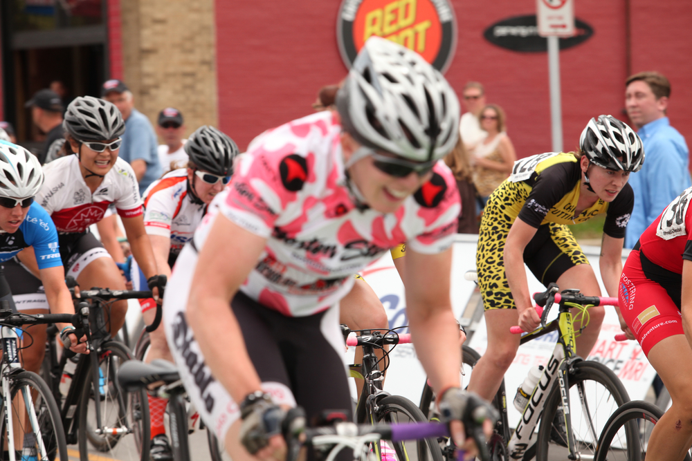 Jenny Youngwerth kept her Cow Jersey with ease. Leopard print makes the Crew easy to spot.