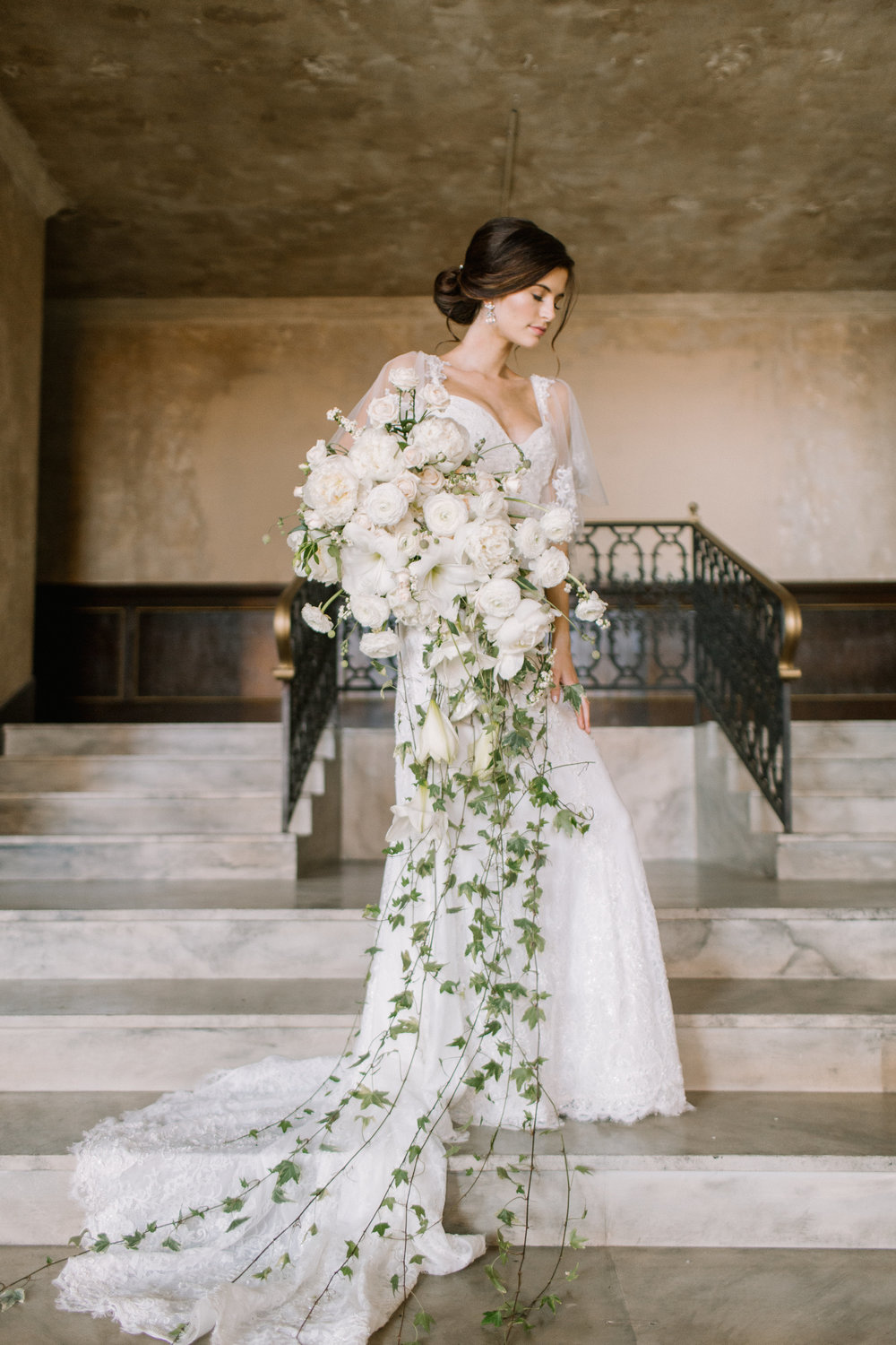 I loved creating this bouquet! The variegated ivy makes it extra dramatic.