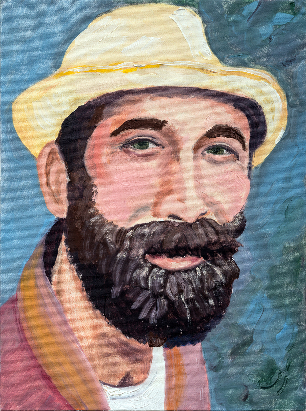 "Jonathan | oil on canvas 12"" x 9"""