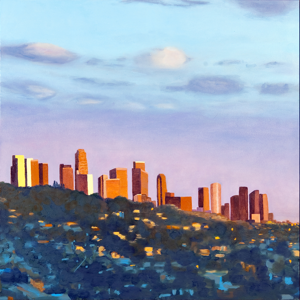 "Downtown L.A. | oil on canvas 30"" x 30"""