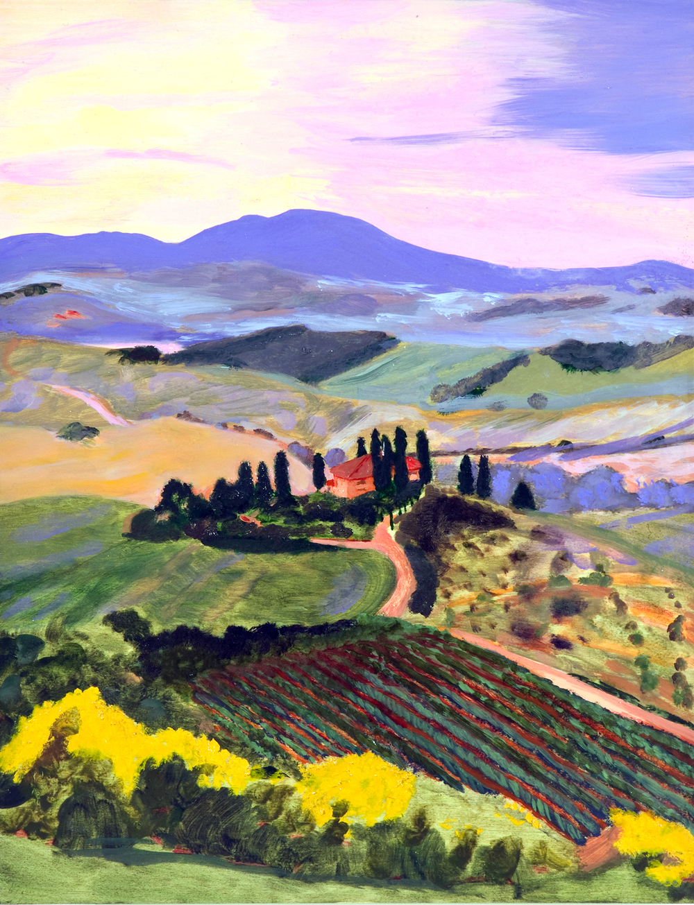 "Tuscany | oil on wood panel 18"" x 14"""
