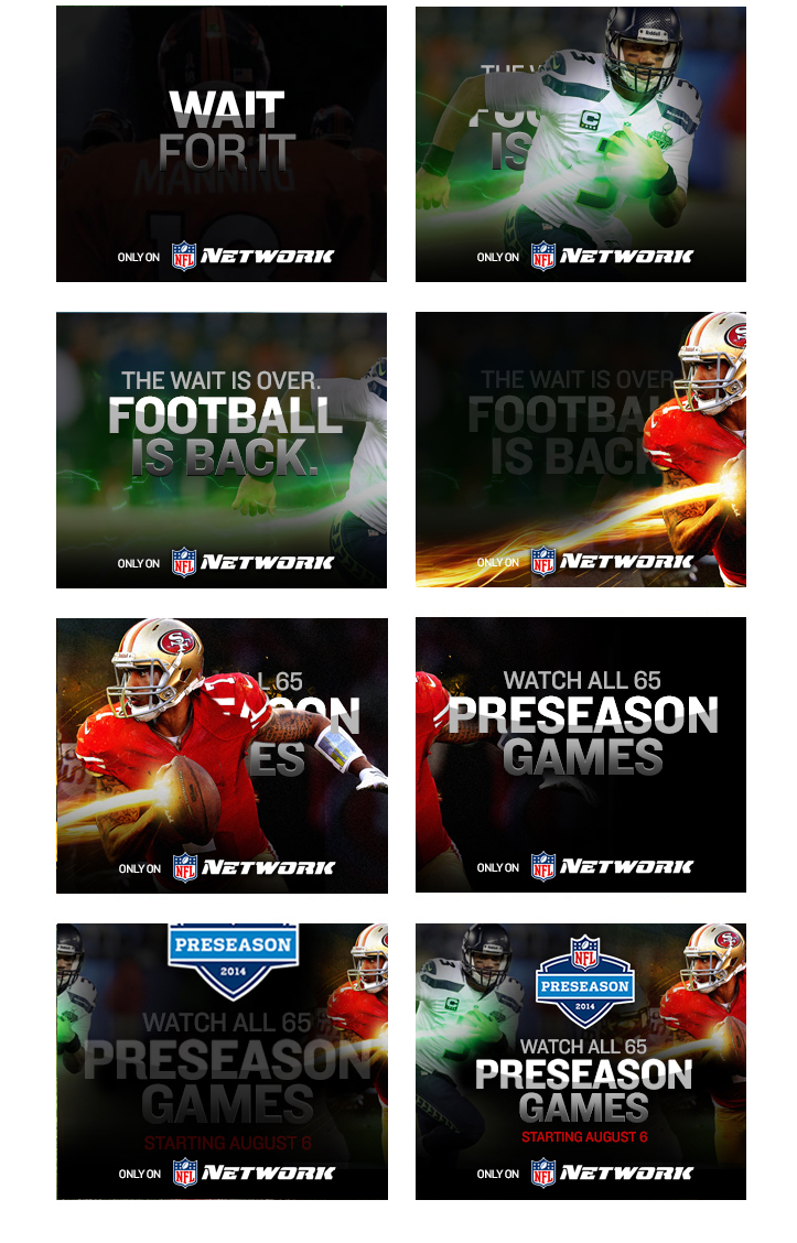 NFL - Preseason 2014 - Banner Concepts