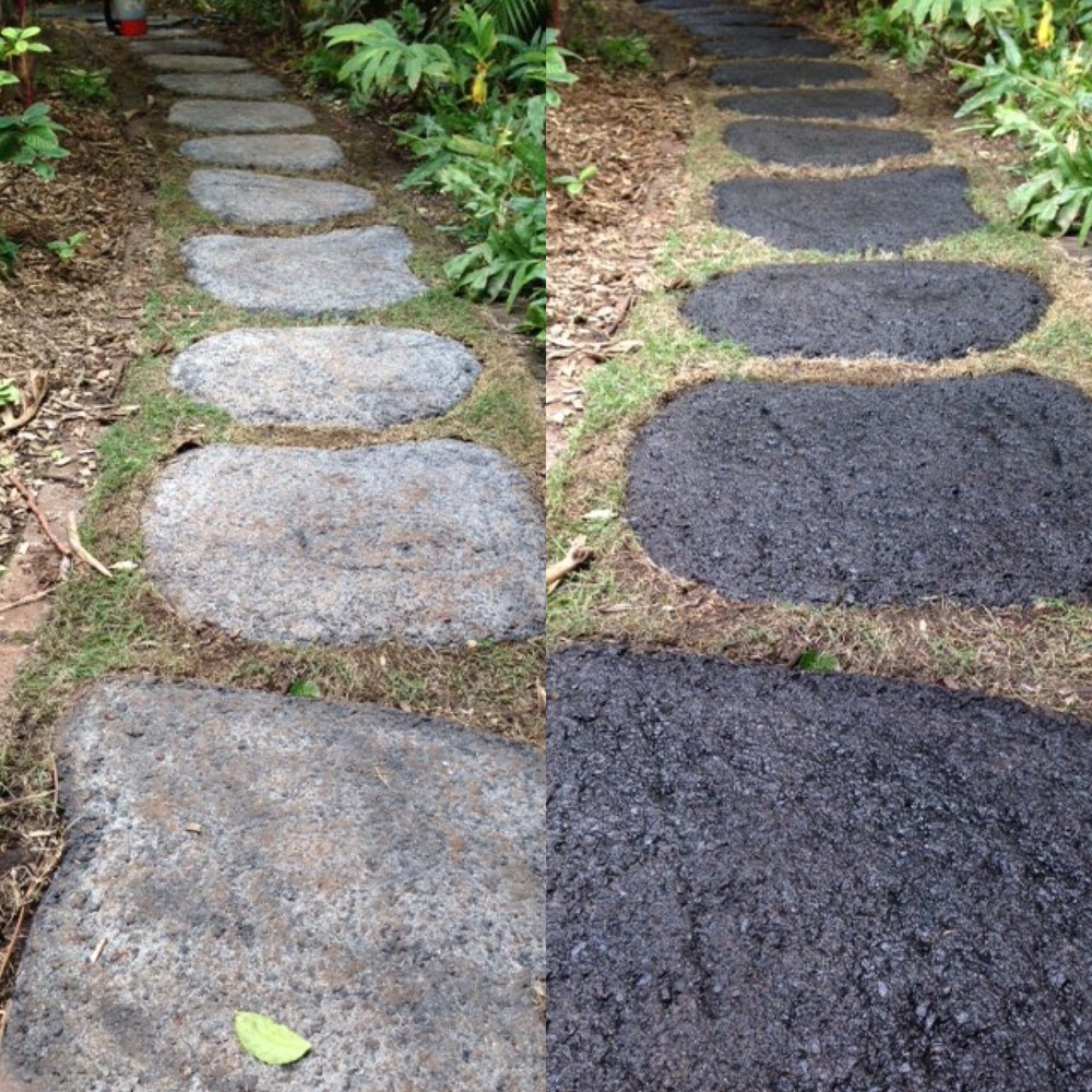Stained Stepping Stones