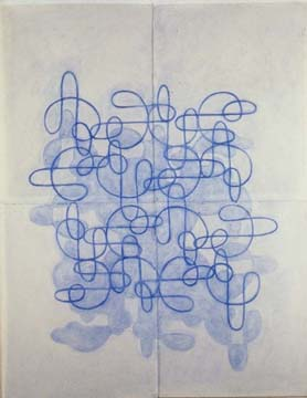 Blue Line Drawing #5, 1999