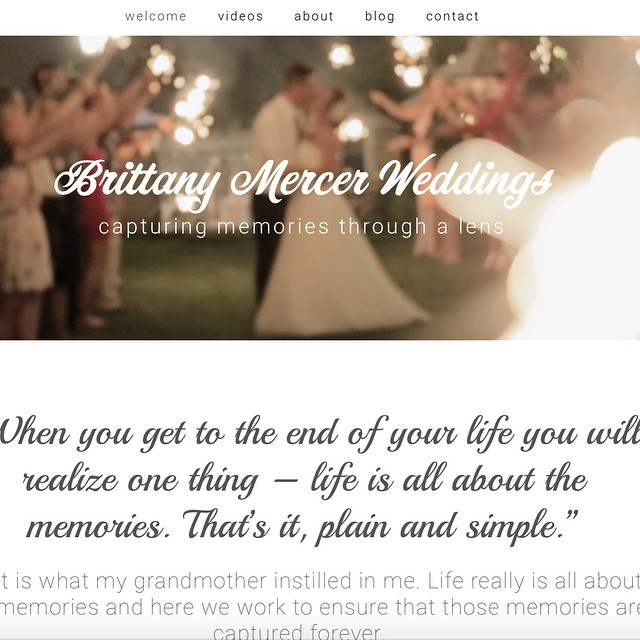 New website is up! Check it out. #weddingvideo #weddingvideography #memorymaker #brittanymercerweddings