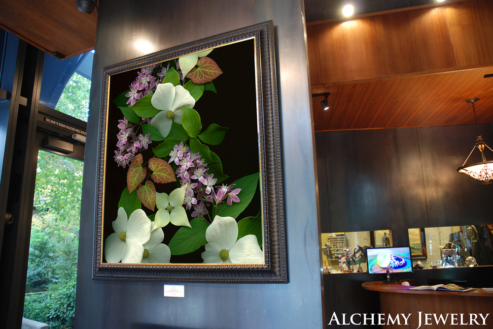 Alchemy - Continually showing, Deb's large scale color photographs are featured on the gorgeous steel walls of Alchemy Jewelry, 1022 NW Lovejoy, in Portland's Pearl District. Visit often as the work changes from time to time!