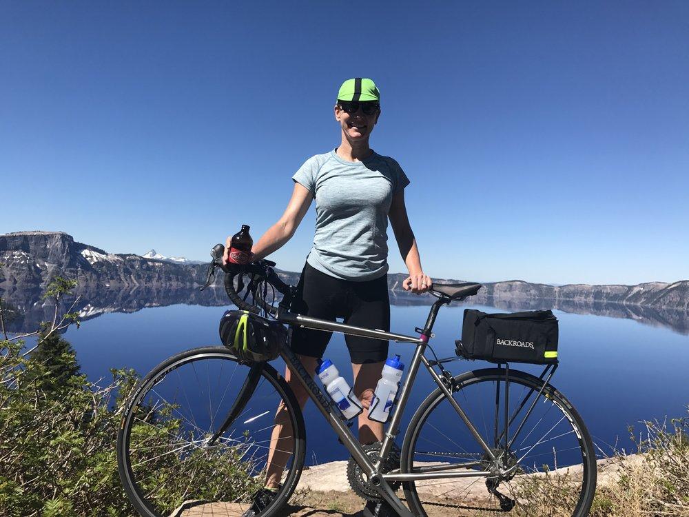 Cycling at Crater Lake, Oregon