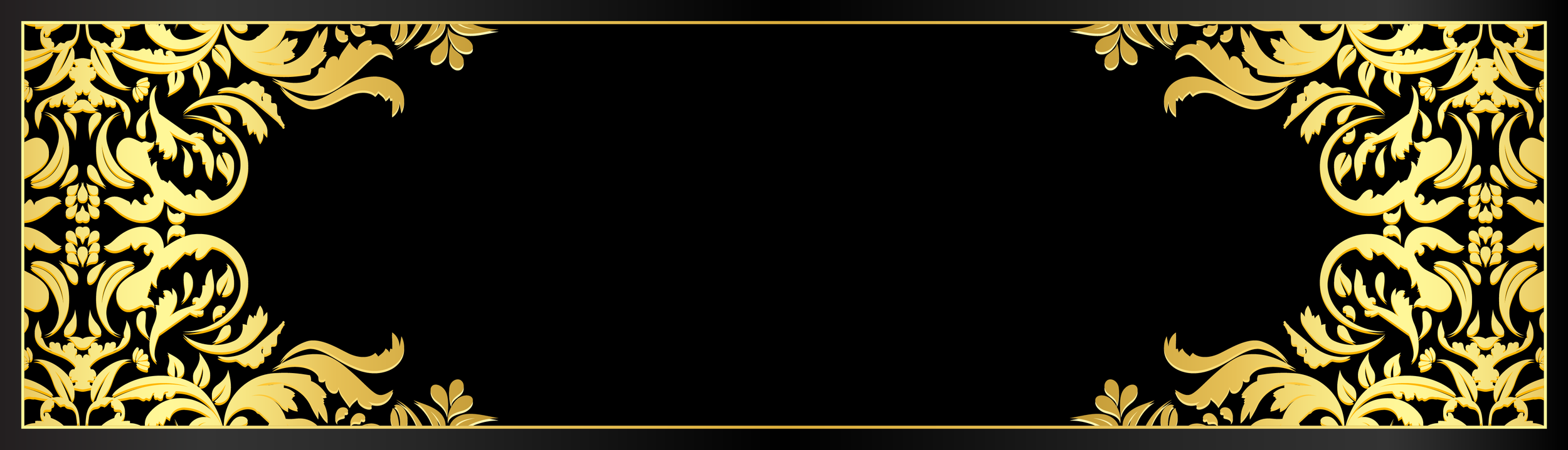 black and gold frame png. Certificate_ornament_leaf_gold_black.png Black And Gold Frame Png